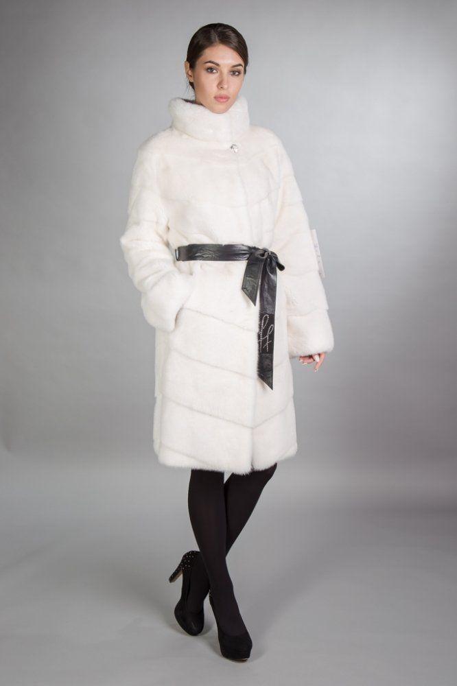 7711512630ce Белая норковая шуба, 100 см, Antoniadis, Греция